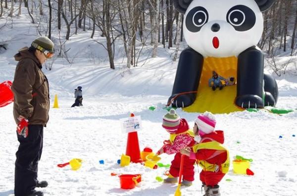 水上で雪遊び!親子で楽しむ3つの方法!-キッズランドで遊ぶ-藤原スキー場